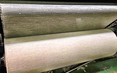 奈良伝統の織物ふすま紙の生地<