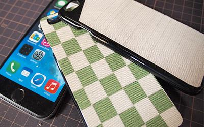 奈良伝統の織物ふすま紙を使用した製品