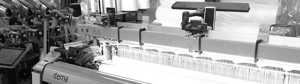 奈良伝統の蚊帳生地やふすま地の織物製造上島織布工場レピア織機
